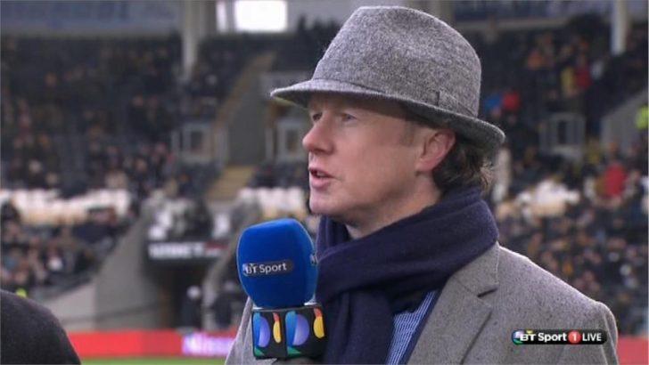 Steve McManaman dressed as Inspector Gadget  on BT Sport (3)