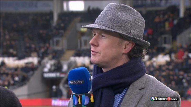 Steve McManaman dressed as Inspector Gadget  on BT Sport (4)