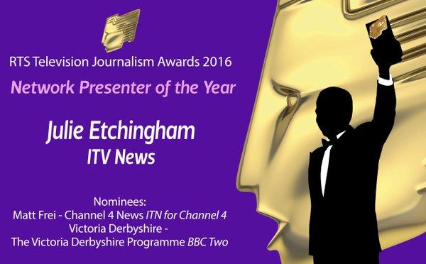 RTS Awards Julie Etchingham