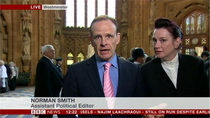 BBC's Norman Smith told to stop filming in Central Lobby