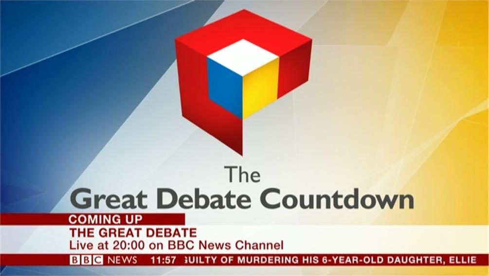 EU Referendum: The Great Debate – Live on BBC One, BBC News Channel