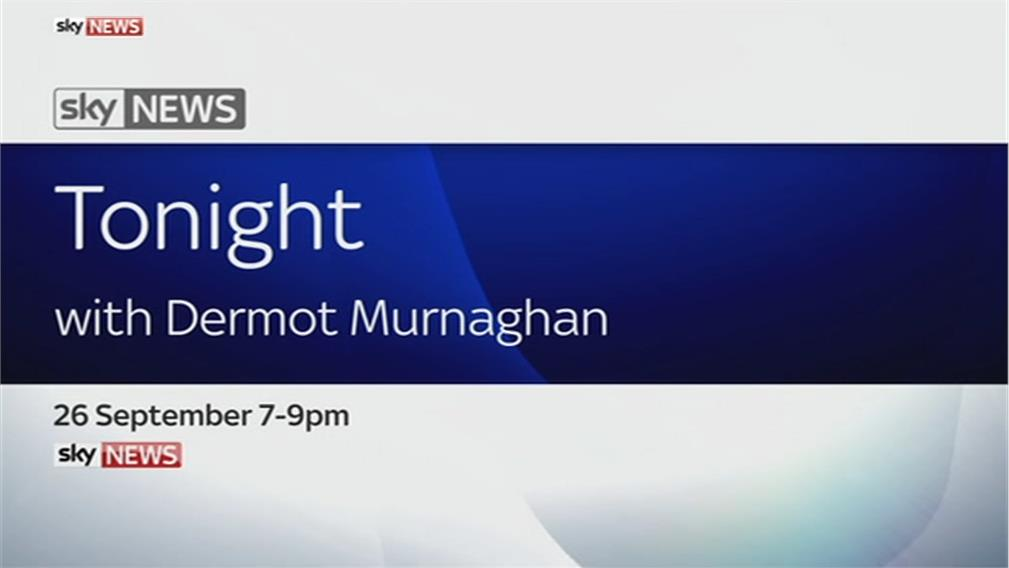 Tonight with Dermot Murnaghan – Sky News Promo 2016