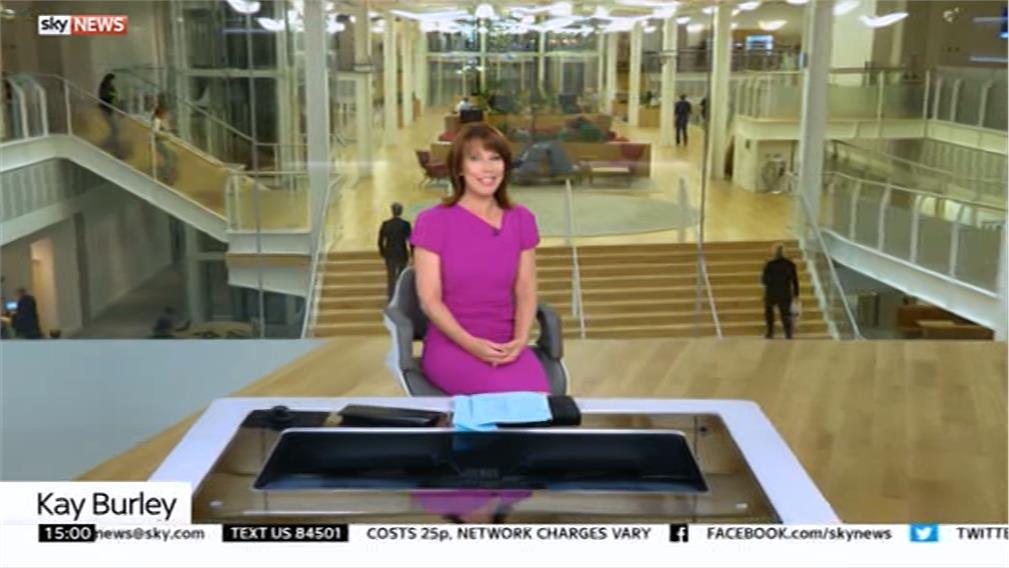 Images of Sky News' New Studio (2016)