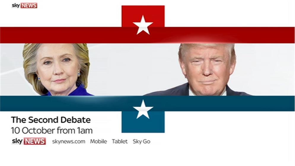 Second U.S. Presidential Debate – Sky News Promo 2016