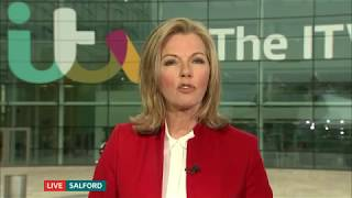 Mary Nightingale present ITV Evening News from Salford (Openers)