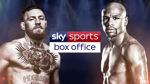 former world champion boxer Floyd Mayweather and current UFC lightweight champion Conor McGregor on Sky Sports Box Office