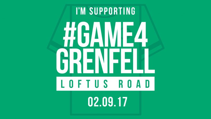 Sky to broadcast QPR's #Game4Grenfell charity football match