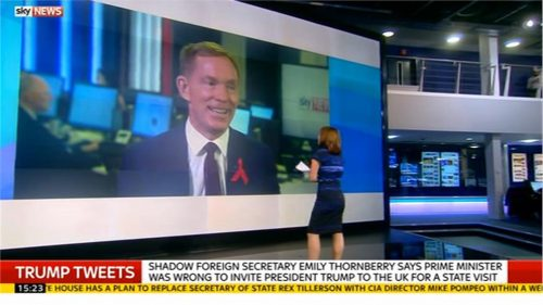 Kay Burley and Chris Bryant MP wager over Donald Trump visiting the UK