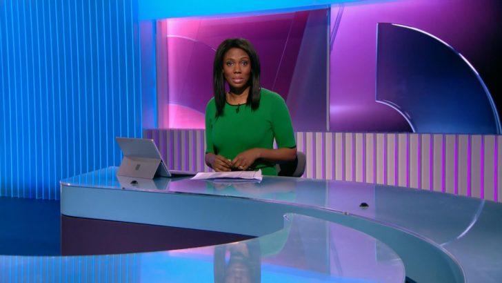 Claudia-Liza Armah hosts her first 5 News bulletin