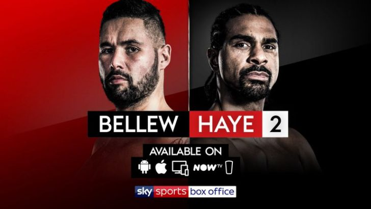 Tony Bellew vs David Haye 2: Live TV Coverage on Sky Sports Box Office
