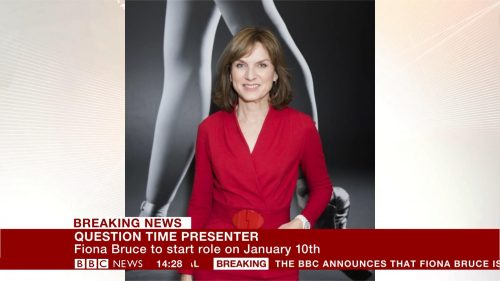 Fiona Bruce has been announced as the new presenter for BBC One's Question Time.