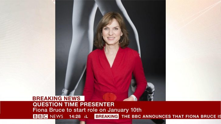 Fiona Bruce announced as new BBC Question Time presenter