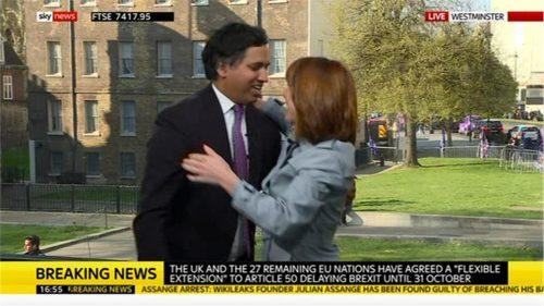 Kay Burley - Sky News says goodbye Faisal Islam 04-11 18-49-02