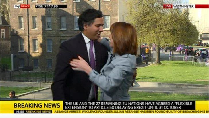 Kay Burley says goodbye to Sky News' Political Editor Faisal Islam