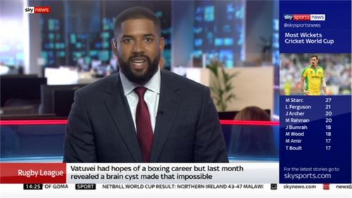 Hugh Woozencroft - Sky Sports News Presenter (2)