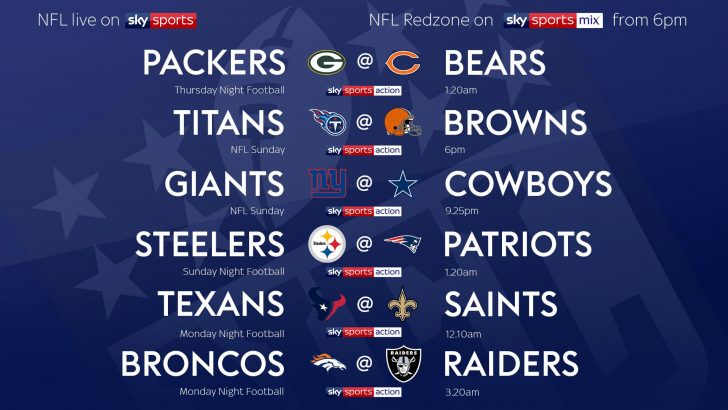 NFL 2019 on Sky – Week One TV Schedule
