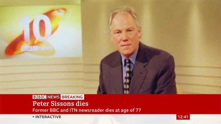 Former BBC and ITN news presenter Peter Sissons has died at 77