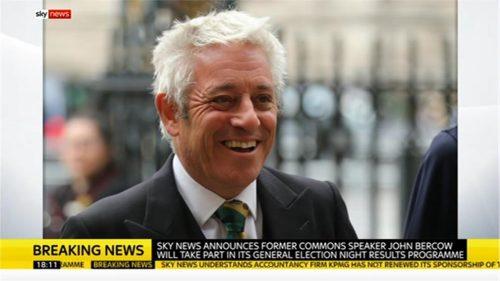 John Bercow - Sky News Election results programme 2019