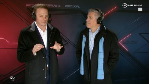 Greg McElroy XFL on ABC and ESPN (2)