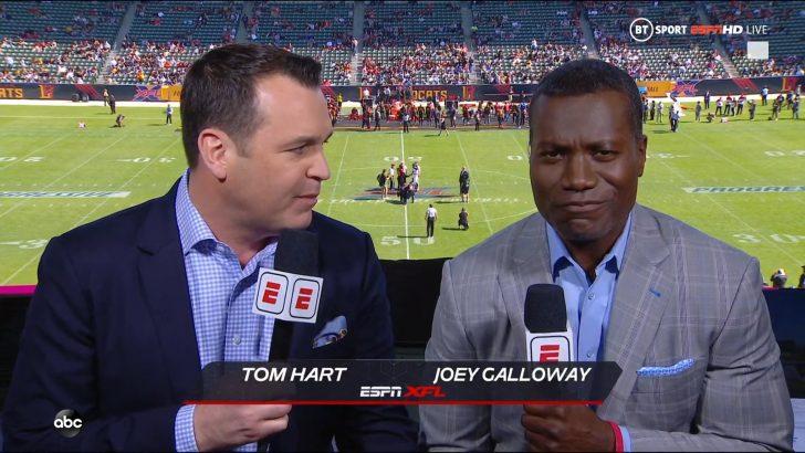 Joey Galloway - XFL on ABC ESPN (1)