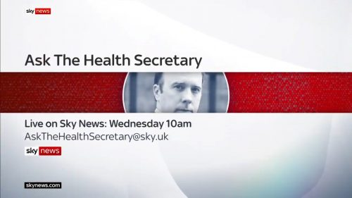 Ask the Health Secretary - Sky News Promo 2020 (3)