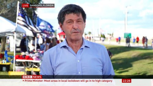 BBC, Sky reporting from Sanford Florida - Donald Trump Rally (1)