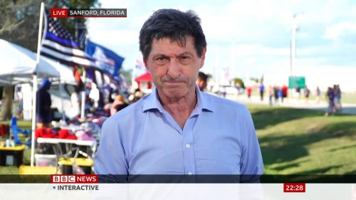 BBC, Sky reporting from Sanford Florida - Donald Trump Rally (2)