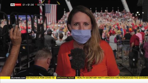 BBC, Sky covers Trump's visit to Sanford, Florida