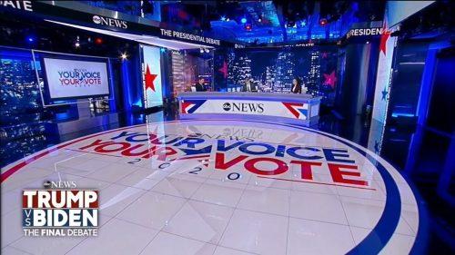 US 2020 – Last Presidential Debate on ABC News