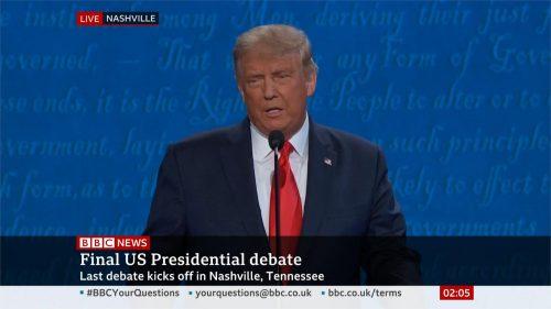 US Election 2020 - BBC News - Final Debate (17)