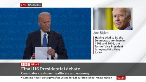 US Election 2020 - BBC News - Final Debate (23)