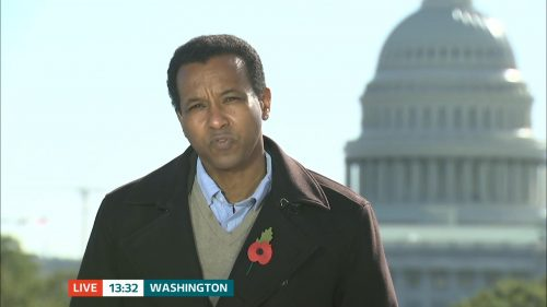 ITV Evening News from America on Election Day (1)