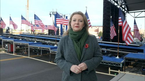 ITV Evening News from America on Election Day (3)