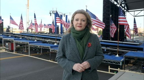 ITV Evening News from America on Election Day (4)