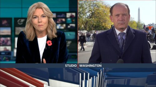 ITV Evening News from America on Election Day (7)