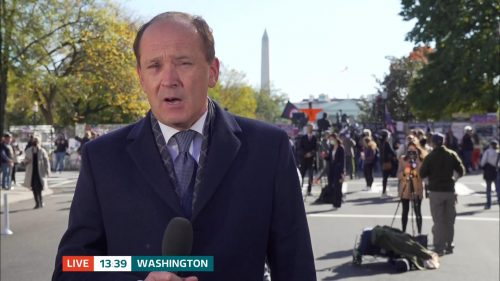 ITV Evening News from America on Election Day (8)