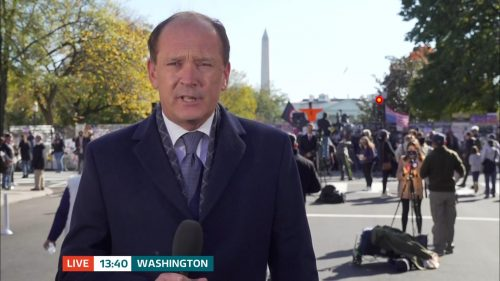 ITV Evening News from America on Election Day (9)