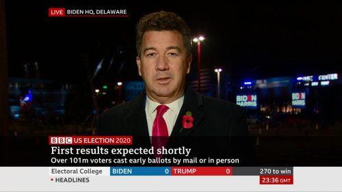 US Election 2020 - BBC News Coverage (35)