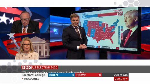 US Election 2020 - BBC News Coverage (37)