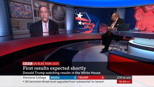 US Election 2020 - BBC News Coverage (42)