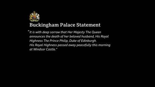 Prince Philip Dies - BBC News Coverage (10)