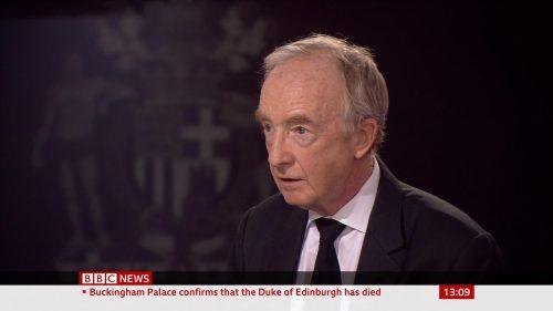 Prince Philip Dies - BBC News Coverage (13)