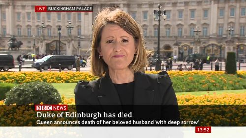 Prince Philip Dies - BBC News Coverage (2)