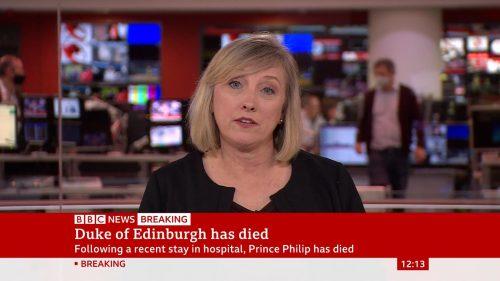 Prince Philip Dies - BBC News Coverage (7)