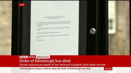 Prince Philip Dies - BBC News Coverage (9)
